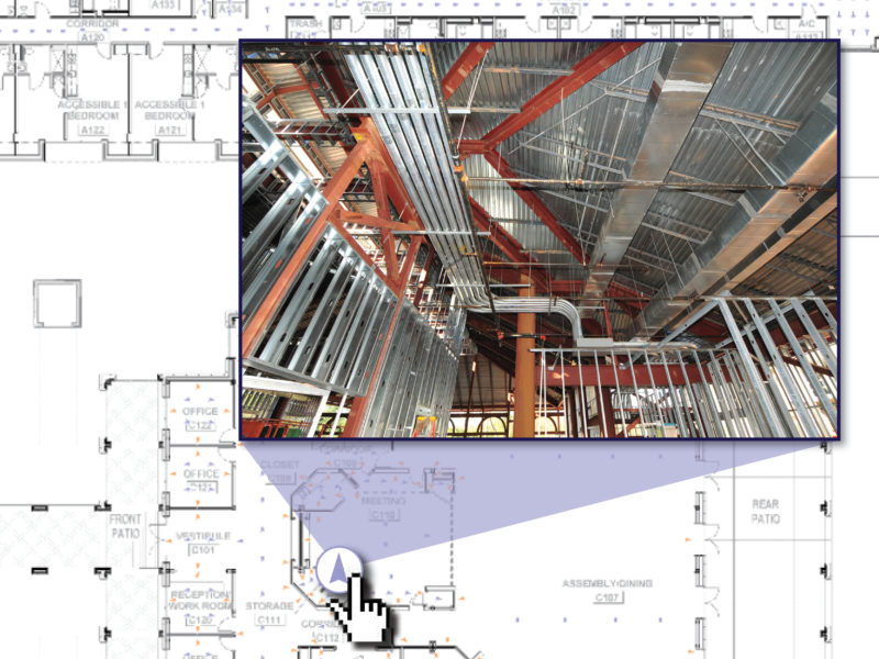 Sample shot of Multivista's construction photo documentation software