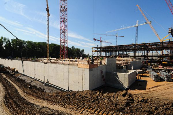 Photo documentation of commercial office construction site by Multivista