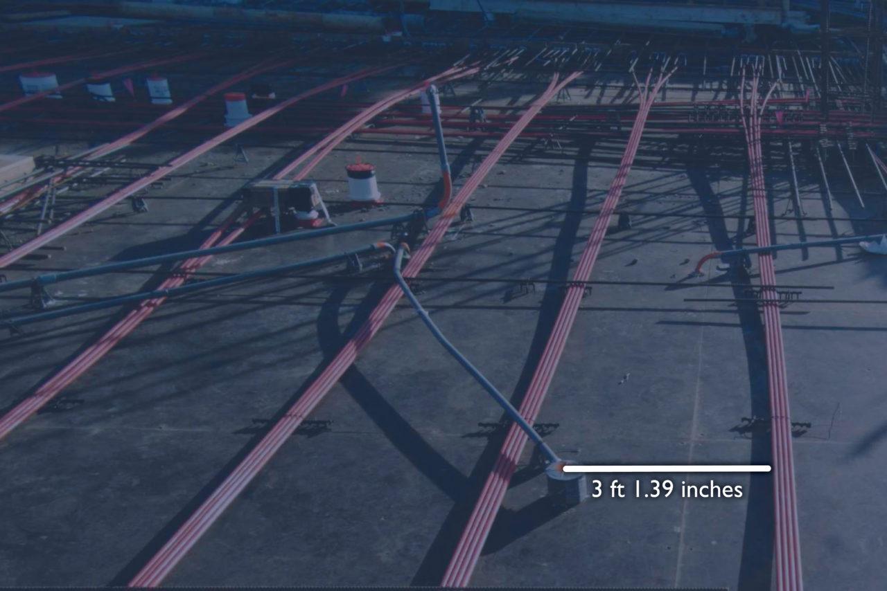 Pre-Slab 3D Image on Construction Site