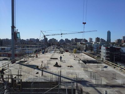 Photo of a general contractor's construction site taken by Multivista