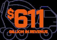 611 Billion in revenue truck