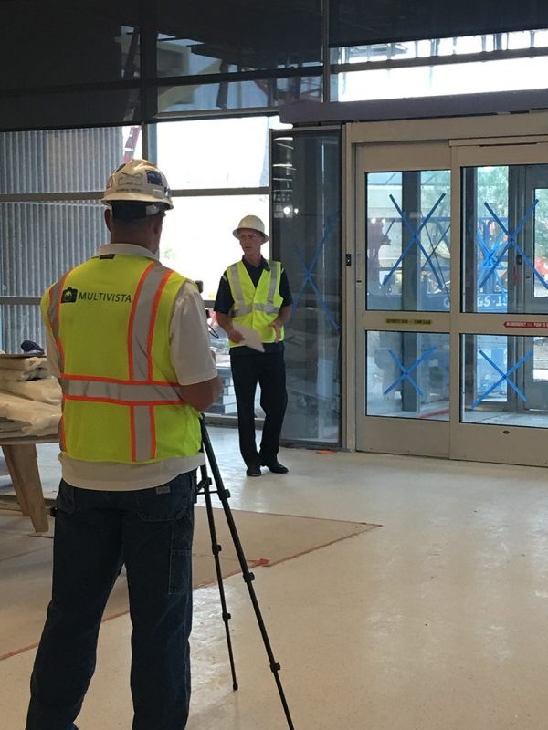Multivista videographers recording a construction training video