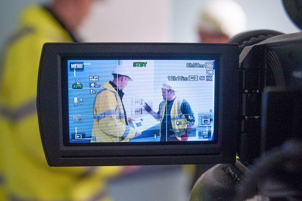 Multivista construction video documentation in progress