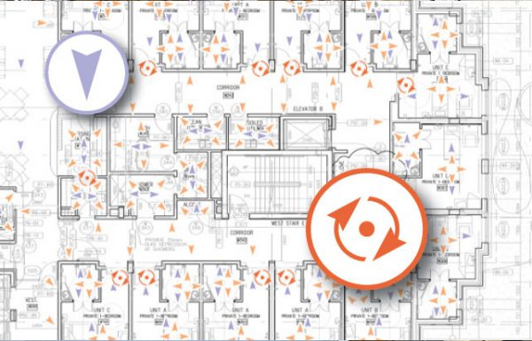 Image of Multivista 3D Virtual Site-Walk combined floorplan of construction site