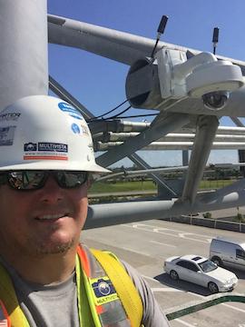 Multivista Construction Worker Installing Webcam