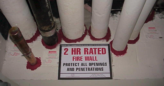 a firestopping partition